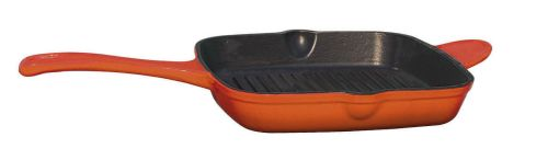 Cast Iron Square Skillet Deep Orange - 26cm